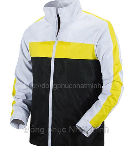Đồng phục áo khoác gió viền vàng