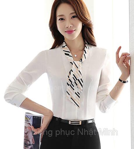 Nhật Minh - Đồng phục áo sơ mi nữ -31