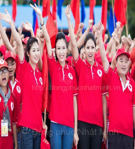 đồng phục áo thun công sở màu đỏ